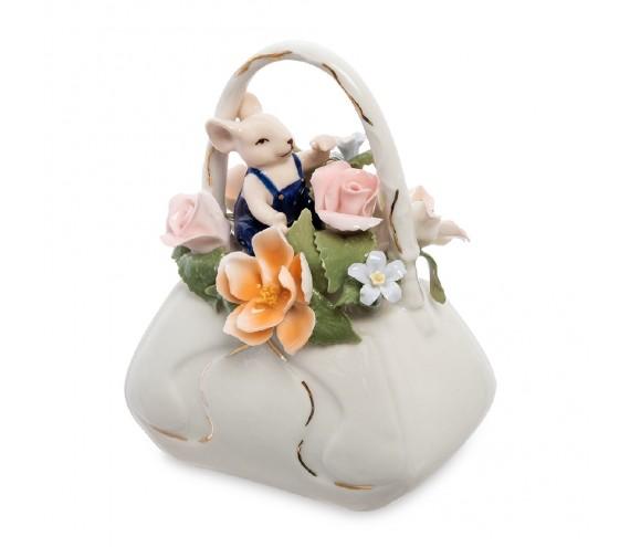 Статуэтка ''Мышонок с сумкой цветов'' (Pavone)