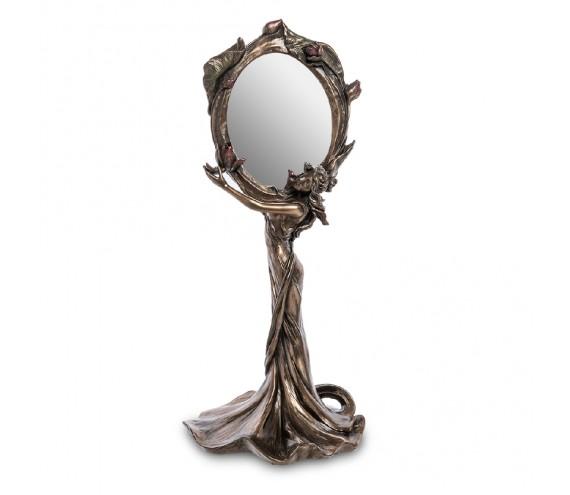 Зеркало ''Девушка с цветами лотоса''