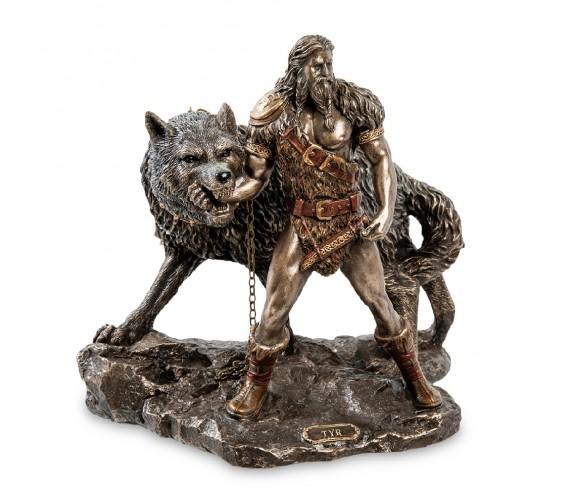 Статуэтка ''Тюр - бог воинской храбрости и Враг богов - Фенрир''