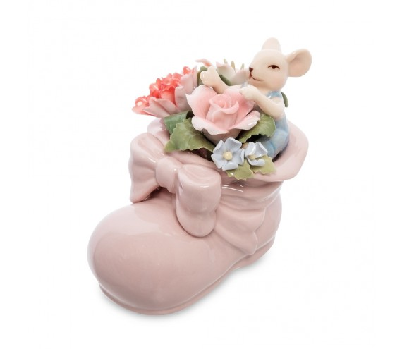 Статуэтка ''Мышонок в цветочном башмаке''