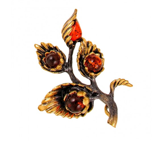 Брошь Цветок Латирус