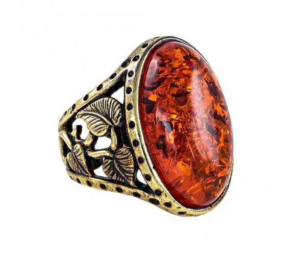 Кольцо Ива овал (коньячный)