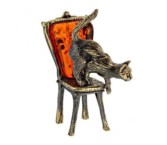 Кошка на стуле Сувенир (коньячный)