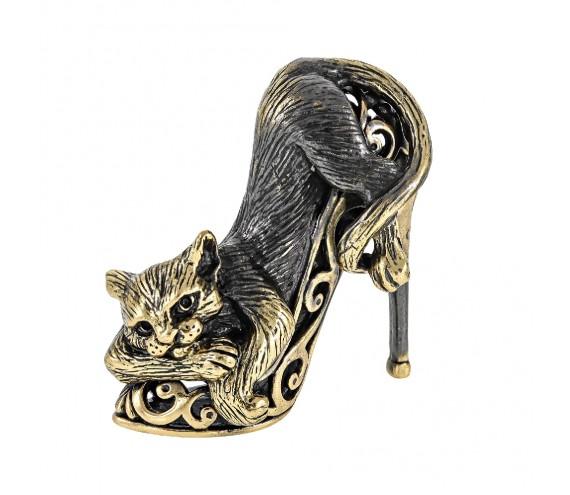 Кот на туфельке Золушки без подставки