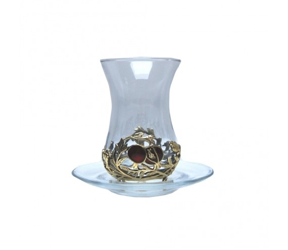 Чайный Гранат стаканчик (армуд) эмаль