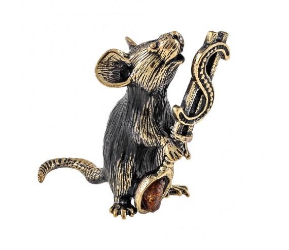 Мышь с ложкой Доллар без подставки