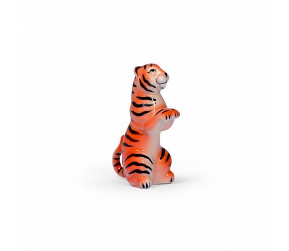 Тигр сидящий цветной  001875