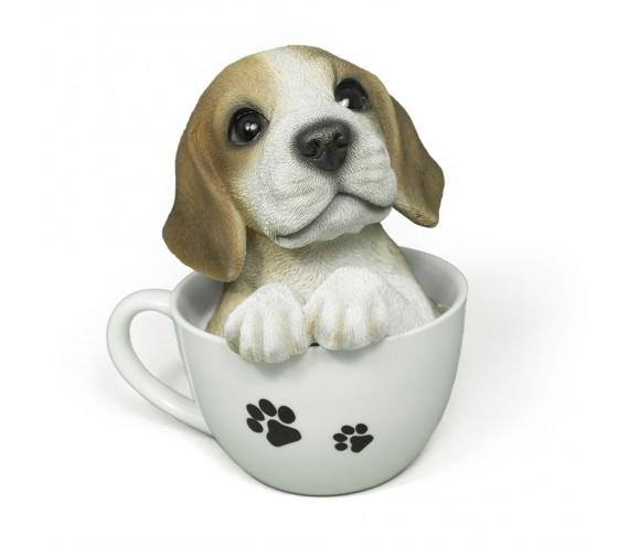 Щенок Бигль в чашке