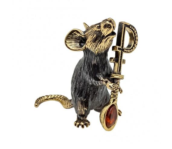 Мышь с ложкой Рубль без подставки