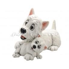 Вест-хайленд-уайт-терьер со щенком