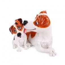 Джек Рассел со щенком