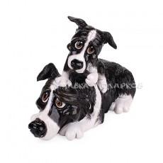 Бордер Колли со щенком